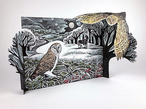 Owl in Winter Freestanding Advent Calendar