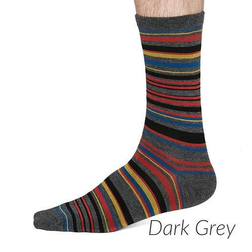 Thought Bamboo Socks - Carlo, Dark Grey Marle (Men's)