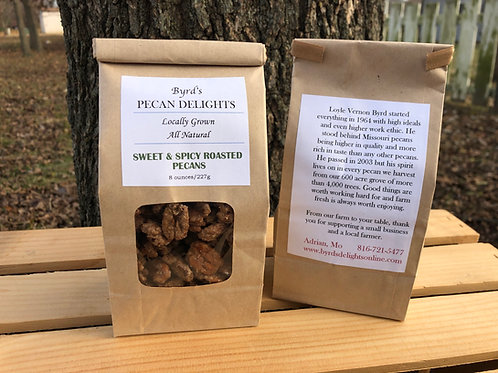Sweet & Spicy Roasted Pecans