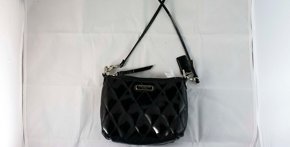 Coach Quilted Patent Leather Purse