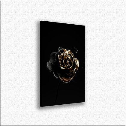 Crna ruža sa zlatom