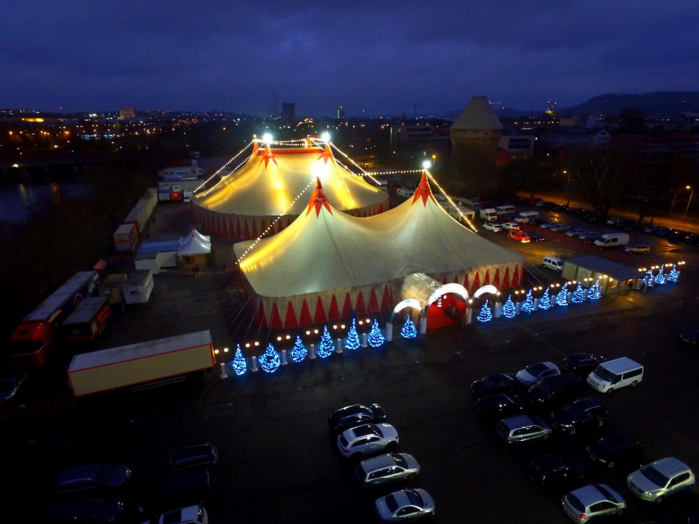 Circusluftbilder Heilbronner Weihanchtscircus 2017