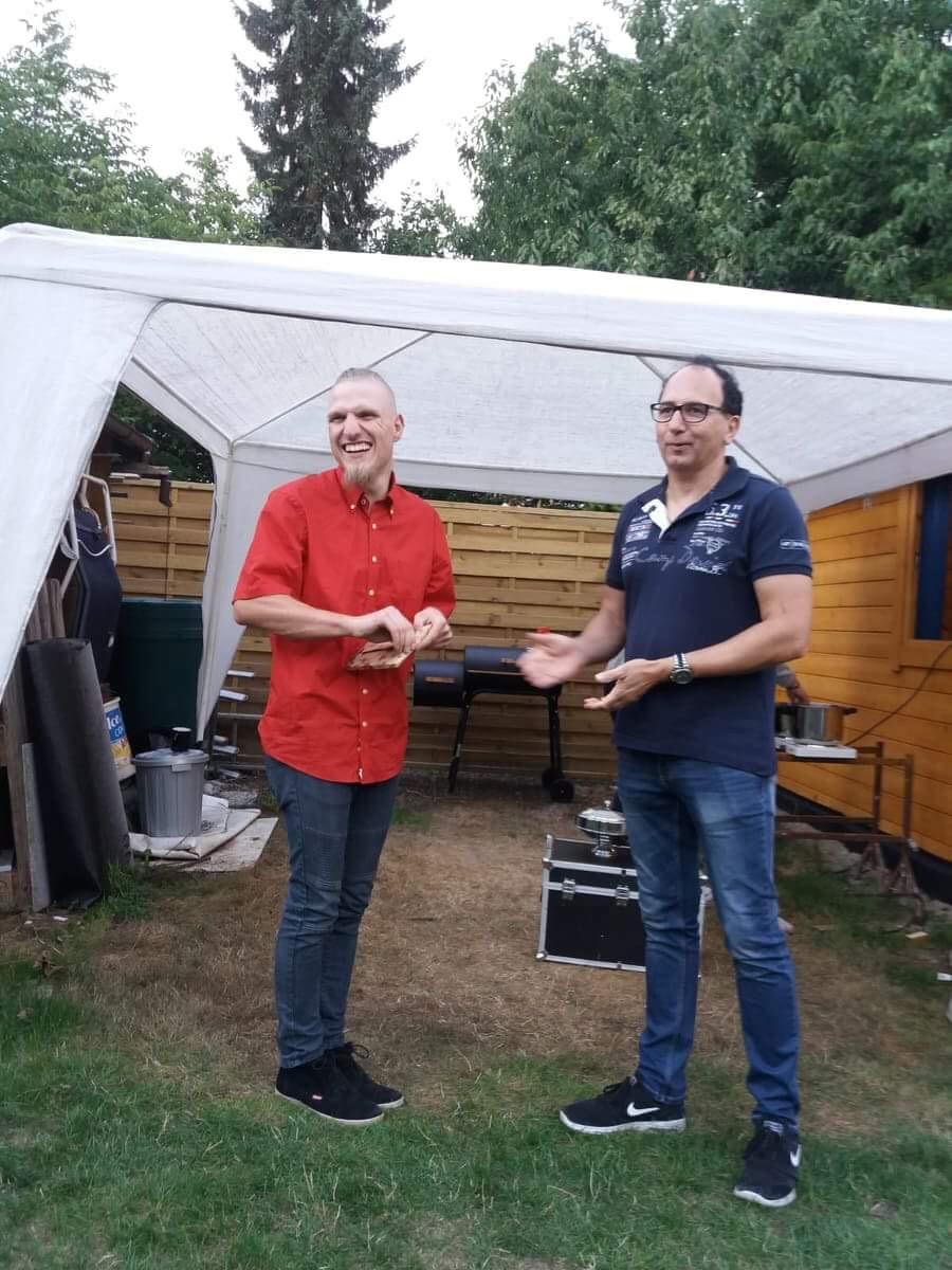 Gastgeber Fabian Regenbogen Und Sektionsleiter Uwe Zachan