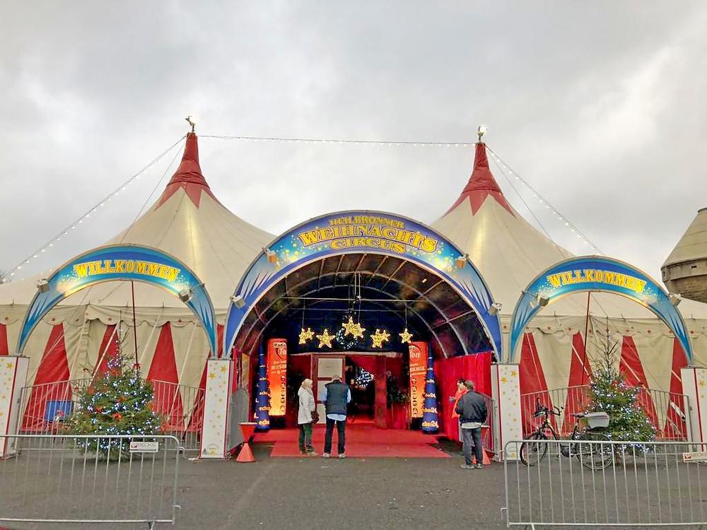 Fassade Heilbronner Weihnachtscircus 2017