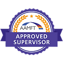 AAMFT Approved Supervisor Badge American Association for Marriage and Family Therapy