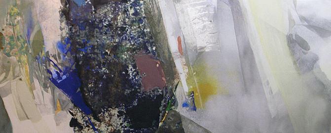 「しずくの集まりー躍ー」/40.0×100.0cm/2010