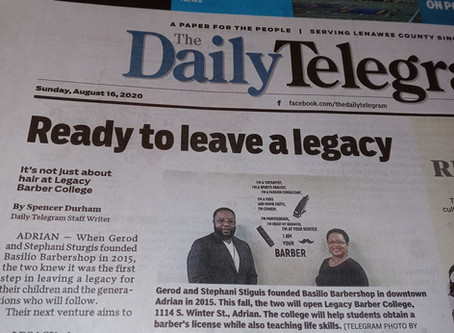 Legacy Barber College in the News!!!
