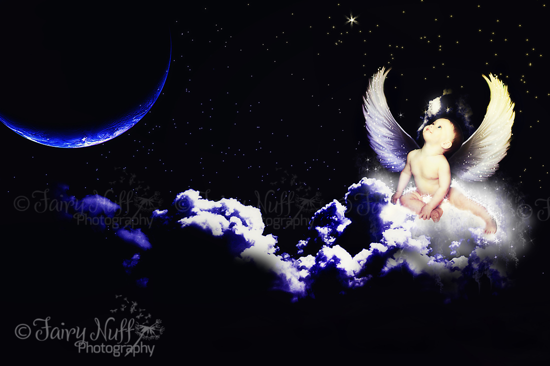 Angel wish on a star