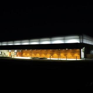 Night Shot of new riding arena