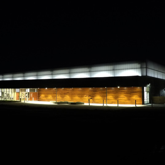 Night Shot of new riding arena