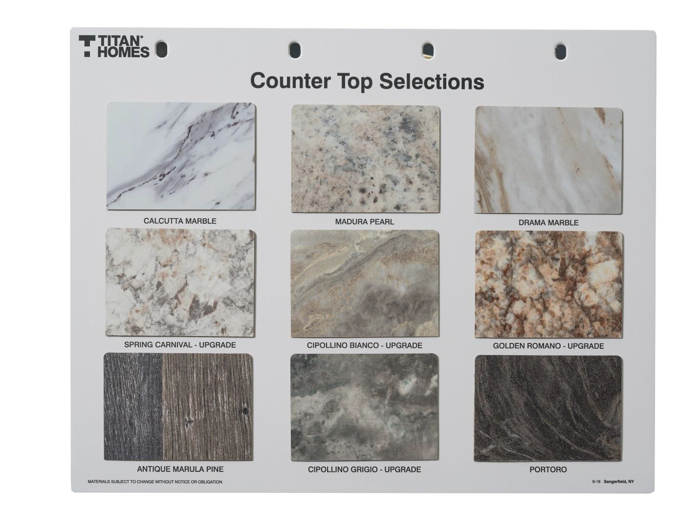 Counter Top Selections