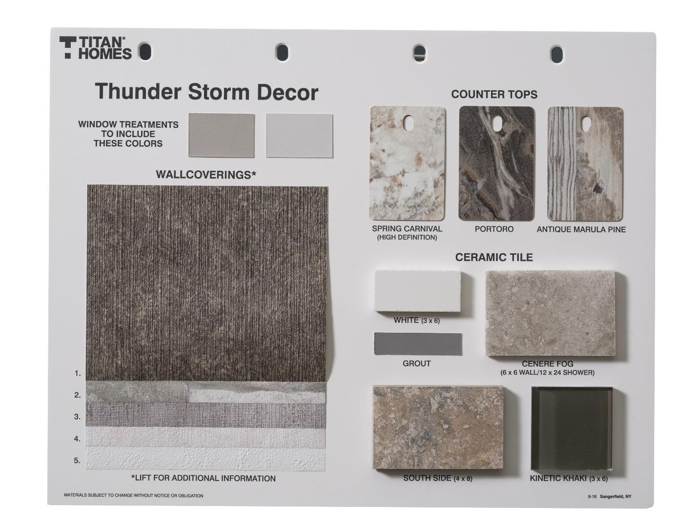 Thunder Storm Decor