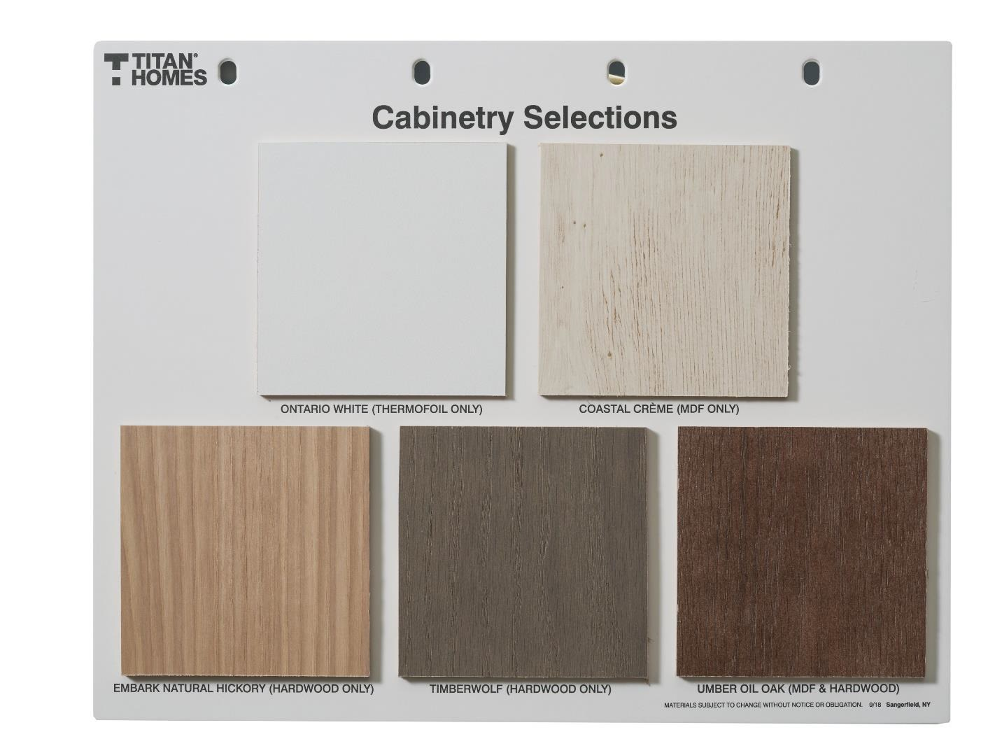 Cabinetry Selections