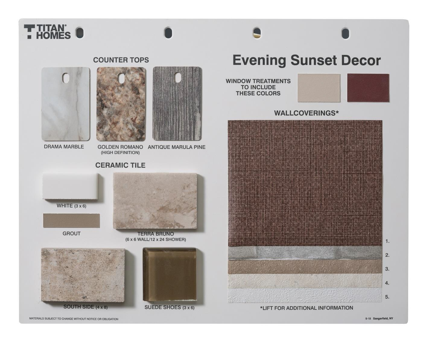 Evening Sunset Decor
