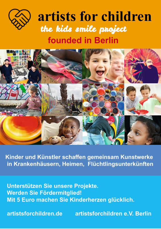 Kinderhilfsprojekt artists for children Berlin