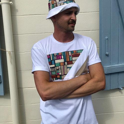 Le t-shirt empiècement multi couleur/velours