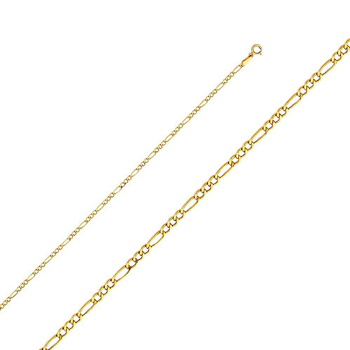 14k Yellow Gold 1.9-mm Figaro Chain Necklace