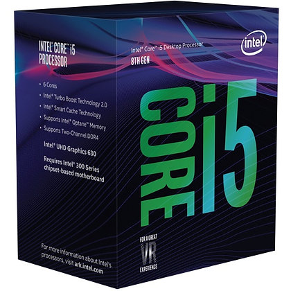 Procesador Intel Core i5-8400, S-1151, 2.80GHz, Six-Core, 9MB Smart Cache 8va.