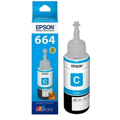 Botella de Tinta Epson T664. Color Cian