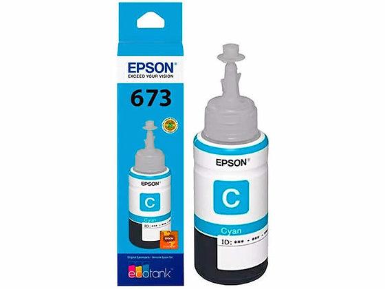 Botella de Tinta Epson T673. Color Cian