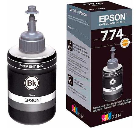 Botella de Tinta Epson T774. Color Negro