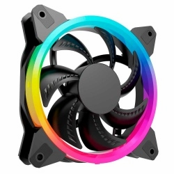 Ventilador Ocelot Gaming OGF01 RGB, 120mm, 1200RPM, Negro