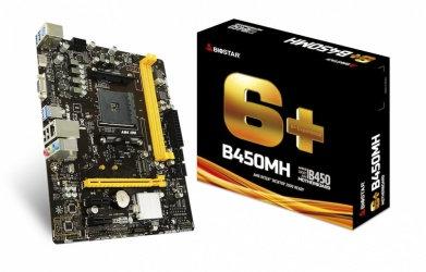 Tarjeta Madre Biostar micro ATX B450MH, S-AM4, AMD B450, HDMI, 32GB DDR4 AMD