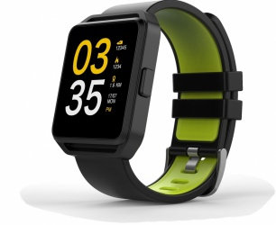 Ghia Smartwatch GAC-108, Touch, Bluetooth 4.0, Android 7.1/iOS 9.3, Negro/Verde