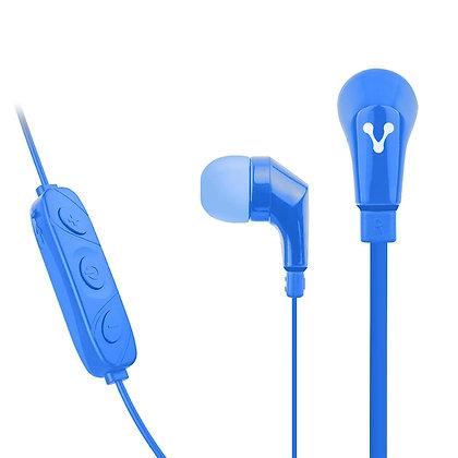 Vorago Audífonos Intrauriculares con Micrófono EPB-103, Bluetooth, Azul