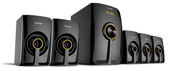 Vorago Kit de Bocinas SPB-500, Bluetooth, 5.1, 50W RMS, Negro