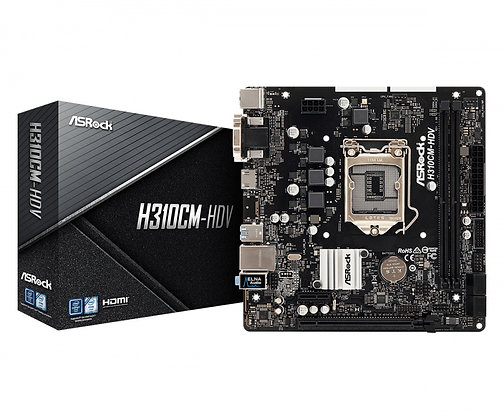 Tarjeta Madre ASRock micro ATX H310CM-HDV, S-1151, Intel H310, HDMI, 32GB DDR4