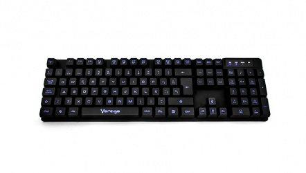 Teclado Vorago Multimedia Retroiluminado KB-501, Alámbrico, USB 2.0, Negro