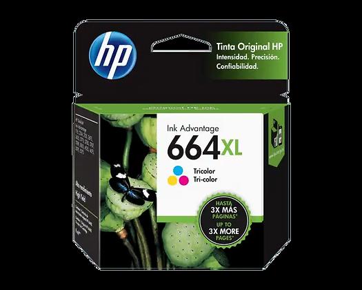 Cartucho de Tinta HP 664XL. Tricolor