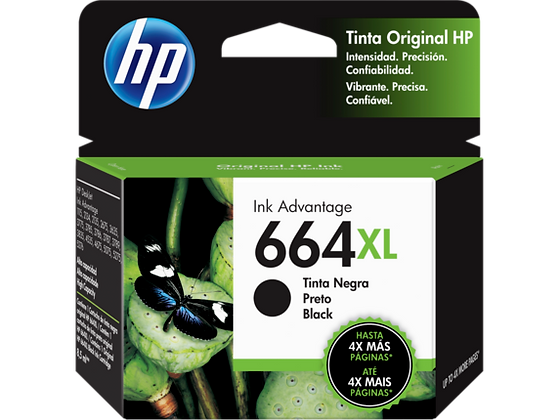 Cartucho de Tinta HP 664XL. Negro