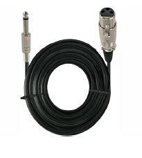 Radox Cable 6.3 mm Macho - CANON Hembra, R080-881, 4.5 Metros, Negro
