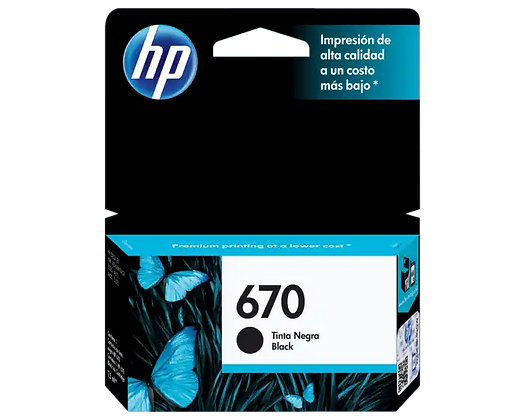 Cartucho de Tinta HP 670. Negro