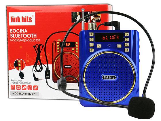 Link Bits Bocina RFR237, Bluetooth, Inalámbrico, 5W RMS, USB