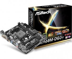 Tarjeta Madre ASRock Micro ATX FM2A68M-DG3+, S-FM2+, AMD A68, 32GB DDR3 para AMD