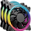 Thumbnail: Kit de Ventiladores Ocelot Gaming OGPF01 RGB, 120mm, 1200RPM, Negro - 3 Piezas