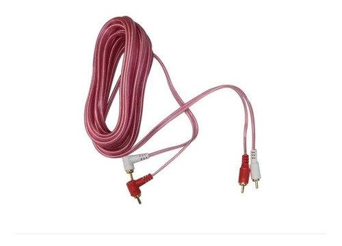 Radox Cable 2x RCA Macho en L - 2x RCA Macho, 080-092, 1.80 Metros, Blanco/Rojo
