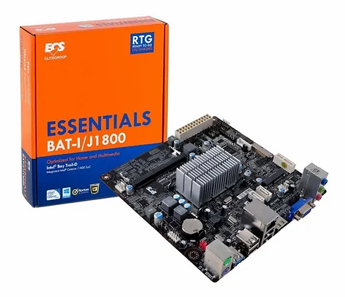 Tarjeta Madre ECS mini ATX BAT-I/J1800, BGA1170, Intel Celeron J1800 Integrada