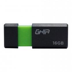 Memoria USB Ghia GAC-177, 16GB, USB 2.0, Negro/Verde