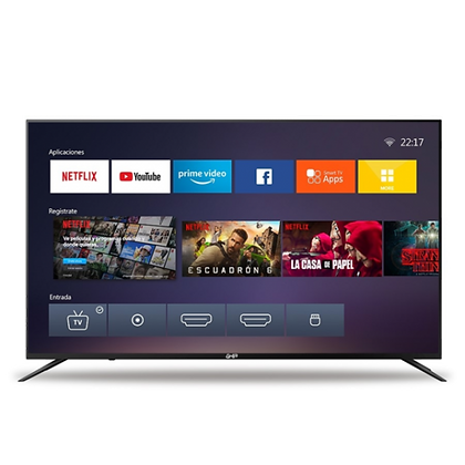 "Ghia Smart TV LED G65NTFXUHD20 65"", UHD, 4K, Negro"