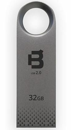 Memoria USB Blackpcs MU2108, 32GB, USB 2.0,Plata