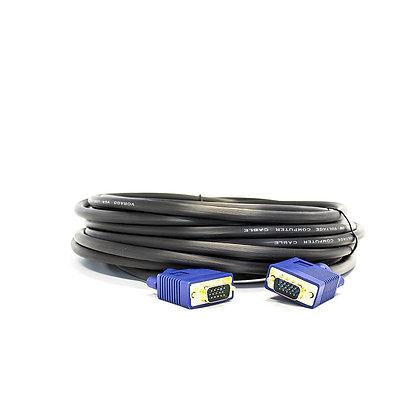 Vorago Cable VGA (D-Sub) Macho - VGA (D-Sub) Macho, 10 Metros, Negro