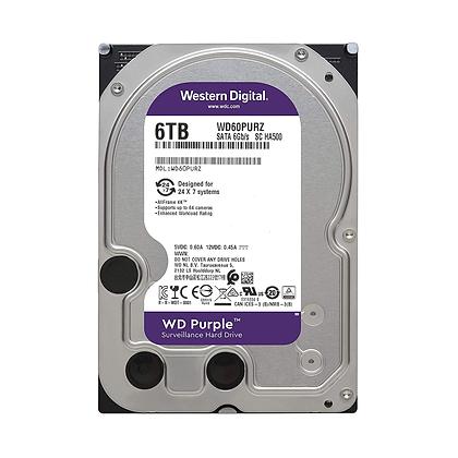 Disco Duro para Videovigilancia Western Digital WD Purple 3.5'', 6TB, SATA III