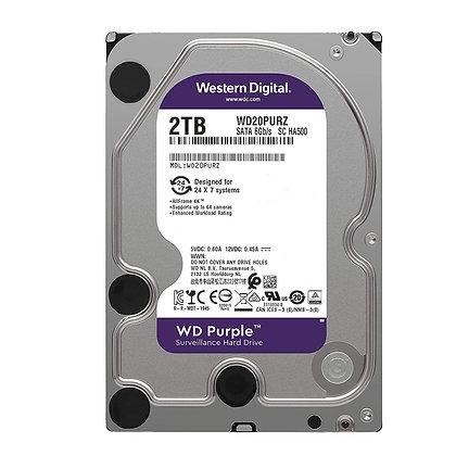 Disco Duro para Videovigilancia Western Digital WD Purple 3.5'', 2TB, SATA III