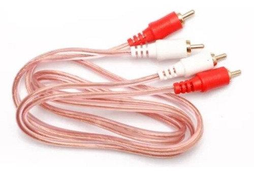 Radox Cable 2x RCA Macho - 2x RCA Macho, 080-090, 1.80 Metros, Blanco/Rojo
