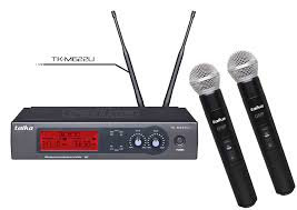 Taika Sistema de Micrófonos, Inalámbrico Profesional TK-M220, Negro