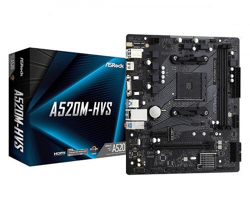 Tarjeta Madre ASRock micro ATX A520M-HVS, S-AM4, AMD A520, HDMI, 64GB DDR4 AMD